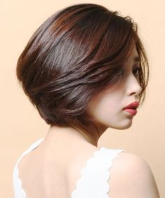 Gorgeous Short Layered Bob Asian Hairstyles 2018 for Women