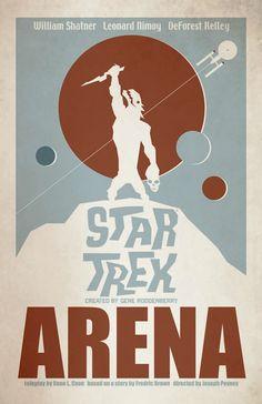 Star Trek December TOS Retro Art Prints Now Available