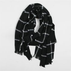 Echarpe oversize carreaux fenêtre - Collection Bonnet-écharpe-gants - Pimkie  France bd5af58c357