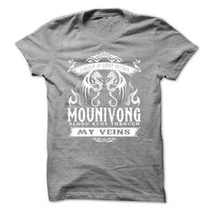 [New last name t shirt] Mounivong blood runs though my veins Shirts of year Hoodies, Funny Tee Shirts