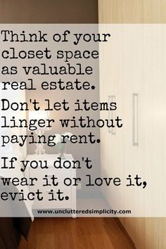 to Declutter Your Wardrobe: 6 Simple Steps For Owning Less Clothes Great inspiration for cleaning out the closet! Time to purge the clothes you don't wear.Great inspiration for cleaning out the closet! Time to purge the clothes you don't wear. Konmari, Hygge, Just In Case, Just For You, Declutter Your Life, Ideas Para Organizar, Minimalist Lifestyle, Organization Hacks, Organizing Tips