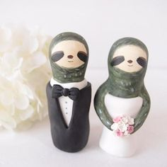 Sloth Wedding Cake Toppers I Want One For My Everyday Meals