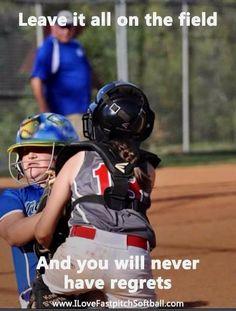 No regrets... #FanMeme #ILoveFastpitchSoftball Softball Rules, Fastpitch Softball, Softball Players, Softball Mom, Softball Stuff, Softball Sayings, Softball Cheers, Softball Coach, Baseball Stuff