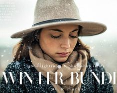 400+ Winter Portrait And Landscape Editing Lightroom Presets & Photoshop Actions, Photoshop Brushes Overlays, and Lightroom Brushes