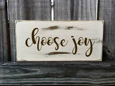 Choose Joy Rustic Sign / Distressed Wooden Sign / Choose Joy Vintage Sign / Choose Joy Rustic Sign