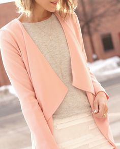 spring pastels // draped jacket