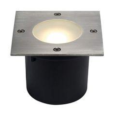 6er Set 1W 12V LED Bodenstrahler Einbauleuchte Außen Lampe Edelstahl warmweiß