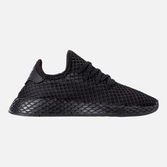 AUTHENTIC Adidas Originals Deerupt Runner Core Black Footwear White 4Y-7Y  size  fashion  . Runners ShoesAdidas KidsBig ... 69971dcde