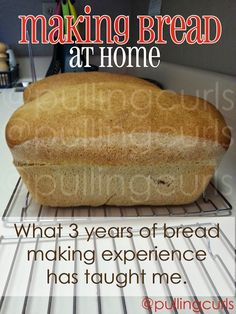 How to make bread dough from scratch, with almost 4 years of bread making of my family experience to help you! #pullingcurls