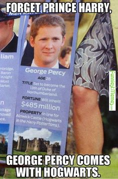 And his name is both George and Percy, and of course he's as red haired as a Weasley. Coincidence? Hell no