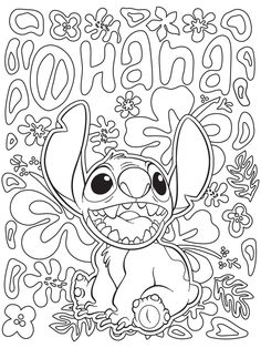 Celebrate National Coloring Book Day with Disney Style | Lilo & Stitch printable coloring page | [ http://di.sn/6006B0K6k ]
