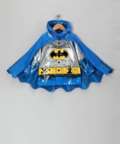 Blue Batman Caped Raincoat - Toddler