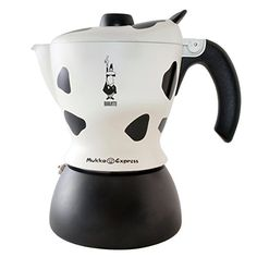 Special Offers - Bialetti Mukka Express 2-Cup Cow-Print Stovetop Cappuccino Maker Black and White - In stock & Free Shipping. You can save more money! Check It (April 15 2016 at 10:40AM) >> http://coffeemachineusa.net/bialetti-mukka-express-2-cup-cow-print-stovetop-cappuccino-maker-black-and-white/