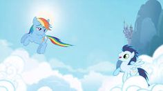 Look at rainbow dashes face!