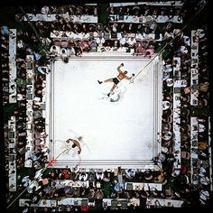 Unbelievable view from above....Muhammad Ali vs Cleveland Williams, by Neil Leifer 1966