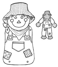 Cut and paste scarecrow craft for fall scarecrows template and free scarecrow head and body printable for those autumn diy projects sciox Image collections