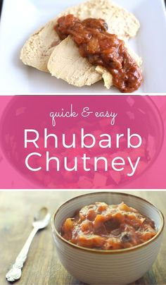 Rhubarb chutney is sweet, tart, and tangy; a savory way to enjoy fresh rhubarb. Serve with roast meat or as a unique sandwich spread. ~ http://www.halfhersize.com