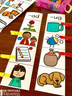 Fun practice for CVC Word Families! Students read the word family at the top and clip the pictures that match. Perfect for morning tubs, literacy centers, or fast finishers!