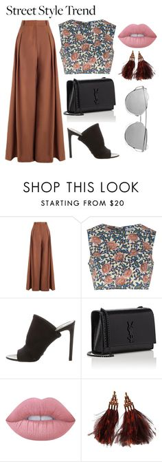 """""""Untitled #219"""" by pehpalad on Polyvore featuring Zimmermann, Glamorous, Balenciaga, Yves Saint Laurent, Lime Crime, Louis Vuitton, StreetStyle and NYFW"""