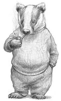 "Need I say any more Kapitel 4 ""Mr. Badger Illustration, Children's Book Illustration, Illustrations, Anime Art Fantasy, Taupe Animal, Animal Drawings, Art Drawings, Chris Dunn, Nausicaa"