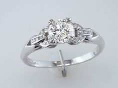 Vintage Diamond Platinum Art Deco Engagement Ring... dang this is like PERFECT!