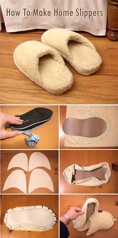 How to make spa slippers tutorial Spa Slippers, Sewing Slippers, Water Soluble Fabric, Fabric Scissors, Fabric Markers, Leather Pattern, Hand Sewing, Fabric Sewing, Dress Sewing