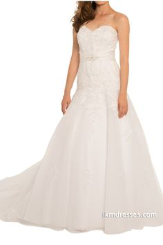 http://www.ikmdresses.com/Women-Sweetheart-Applique-Beaded-Empire-Zipper-up-Sweep-Train-Wedding-Dresses-p89006
