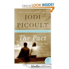 The Pact by Jodi Picoult - Just finished this one last night... REALLY GOOD.      Popular high-school swimming star Chris Harte and talented artist Em Gold bonded as infants; their parents have been next-door neighbors and best friends for 18 years. When they fall in love, everyone is ecstatic. Everyone, it turns out, except for Em...