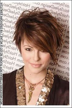 Short Hairstyles For Round Faces 201279