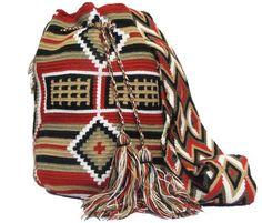 Mochila Wayuu /Exotic Wayuu Bag - comprar online Tribal Bags, Backpacks, Crochet, Fashion, Shopping, Loom Knitting, African, Purses, Bags