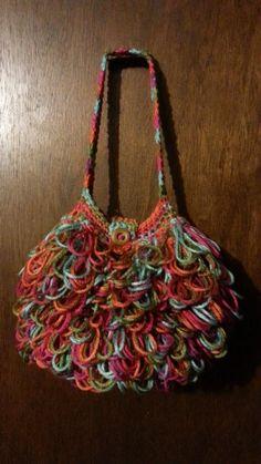 #Crochet Bag loopy #handbag #purse #TUTORIAL Crochet purse Crochet Tutor...