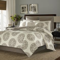Stone Cottage Medallion 100-percent Cotton Sateen 4-piece Comforter Set - Overstock™ Shopping - Great Deals on Stone Cottage Comforter Sets