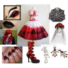 Halloween by moniquedawson09123 on Polyvore featuring Bernard Delettrez and Chicnova Fashion