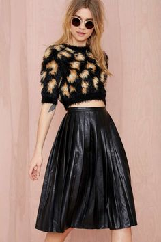 Nasty Gal Anarchy Party Vegan Leather Skirt