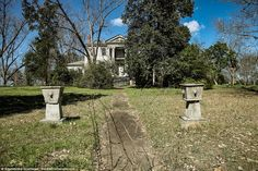 The photographer revealed that he stumbled upon this particular antebellum mansion off a d...