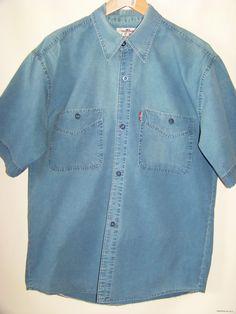 Джинсовая мужская рубашка на короткий рукав ARMA Model (L)