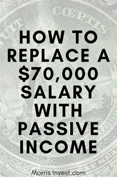 What if you could replace your salary from your job with passive income through real estate investing? You might think this sounds like a tall ord. Earn Money From Home, Earn Money Online, Online Jobs, Way To Make Money, Online Income, Online Earning, Passive Income Streams, Creating Passive Income, Creating Wealth