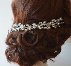 Bridal Headband Tiaras Rhinestone Headband Wedding by ADbrdal