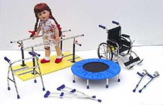 Play Therapy For Children - Play Therapy Toys. Our Disabled Dolls now have equipment!