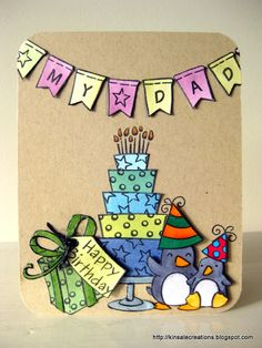 Lawnscaping Challenge #31 - Coloring - What a sweet, fun #birthday card by Barb (Honorable Gnome)