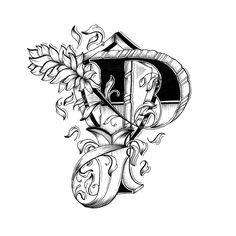 Hand Drawn Alphabet by Raul Alejandro - P