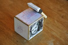 Cute kids craft block.  Mother's day craft, Father's day craft.