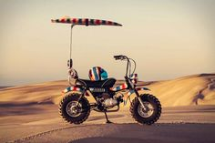 motorcycle brand deus ex machina has teamed up with artist paul mcneil to create the 'goof bike', an old-school yet unconventional means of transport. Cool Truck Accessories, Concept Motorcycles, Custom Motorcycles, Custom Bikes, Ape Hangers, Custom Cycles, Mini Bike, Cute Cars, Bike Design
