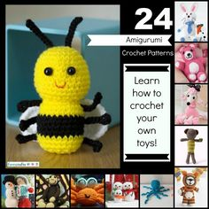 24 Free Amigurumi Crochet Patterns http://www.favecrafts.com/Crochet-Amigurumi/19-Free-Amigurumi-Crochet-Patterns