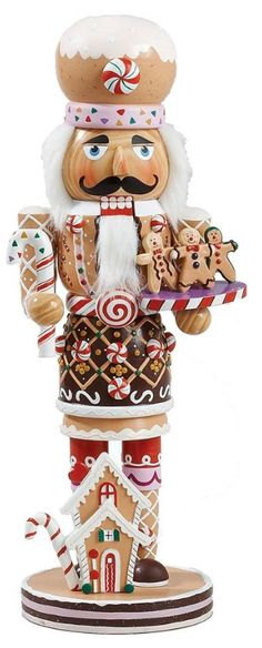 Kurt Adler 16-Inch Wooden and Polyresin Gingerbread Nutcracker - Christmas - kerstmis - holidays