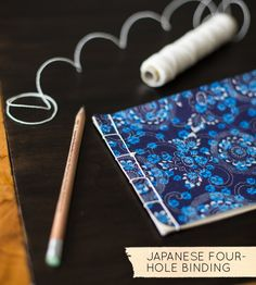 Book Binding 101: Japanese Four-Hole Binding #diy. I have always wanted to try this.  Maybe now that I'm retired and not busy.  Ok just retired!   Good tutorial