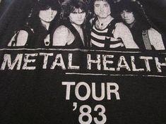 Quiet Riot Shirt. Vintage T-shirt. Graphic Tee. Top. 80's Rock Tee. Retro Black. Metal Health Tour 1983. Concert. Festival. Rare Streetwear.