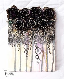 """Handmade by Yulianna: Collage """"Roses"""" and """"Black roses"""""""
