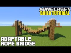 Minecraft: How To Build A Hanging Rope Bridge Tutorial (Simple, Easy & Adaptable.