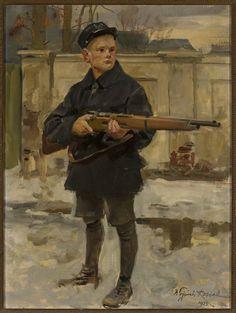"""Kossak Wojciech (1856-1942)   """"Orlę lwowskie"""",1933"""